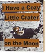 Crater34 Wood Print