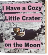Crater38 Wood Print