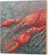 Crawfish Wood Print