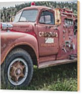Crawford Fire Truck  Wood Print