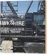 Crawler Crane Hire In London And Kent Wood Print