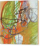 Crayon Scribble#3 Wood Print