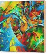 Crazy Blue 3569 Wood Print