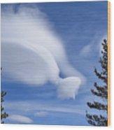 Crazy Clouds Wood Print