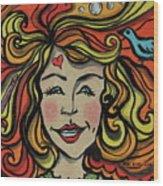 Crazy Hair Wood Print