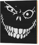 Crazy Monster Grin Wood Print
