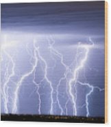 Crazy Skies Wood Print by James BO  Insogna