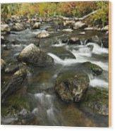 Crazy Woman Creek In Autumn Wood Print