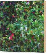 Crazyquilt Garden Wood Print