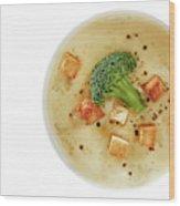 Cream Of Broccoli Soup Wood Print