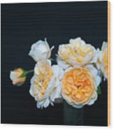 Creamy English Roses Wood Print