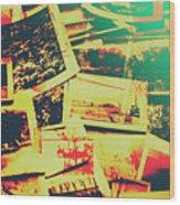 Creative Retro Film Photography Background Wood Print