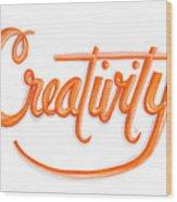 Creativity Wood Print by Cindy Garber Iverson