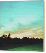Creator's Sky Painting Wood Print