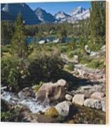 Creek At Heart Lake Wood Print
