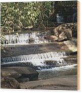 Creek At Table Rock Wood Print