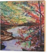 Creek Blue Ridge Mountains Wood Print