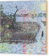 Creek Impressions #2 - Nocturne  Wood Print
