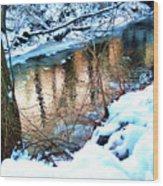 Creek In Bath Ohio Wood Print