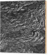 Creek Ripples B And W Wood Print
