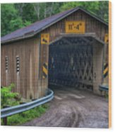 Creek Road Bridge Wood Print