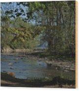 Creek To Lake Wood Print
