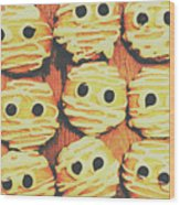 Creepy And Kooky Mummified Cookies  Wood Print