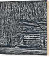 Creepy Cabin In The Woods Wood Print