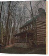 Creepy Cabin Wood Print