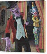 Creepy Circus Wood Print