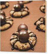 Creepy Crawly Spider Bites. Halloween Food Wood Print