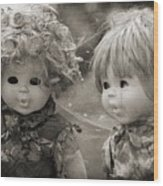 Creepy Dolls Wood Print by Ankeeta Bansal
