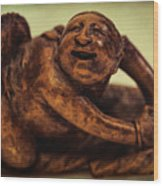 Creepy Things On The Mantel 4 Wood Print