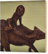 Creepy Things On The Mantel 5 Wood Print