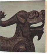 Creepy Things On The Mantel 6 Wood Print