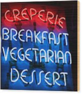 Creperie Wood Print