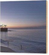 Crescent Bay Sunrise Wood Print