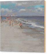 Crescent Beach, Myrtle Beach Wood Print