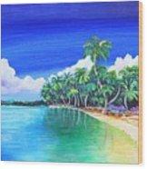 Crescent Beach Wood Print