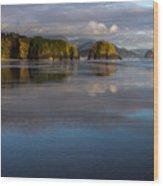 Crescent Beach Reflections Wood Print