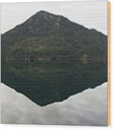 Crescent Lake Reflection Wood Print