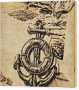 Crest Of Oceanic Adventure Wood Print