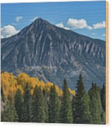 Crested Butte Mountain Wood Print