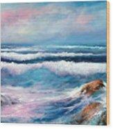 Cresting Waves Wood Print