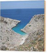 Crete Wood Print