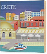 Crete Greece Horizontal Scene Wood Print
