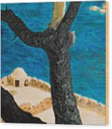 Crete Island Wood Print