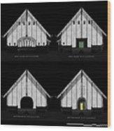 Crew Boathouse Elevations Wood Print