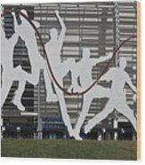 Cricket Art Sculpture Southampton Wood Print
