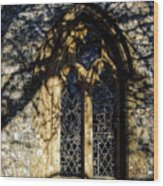 Cricket St Thomas Church Window Wood Print